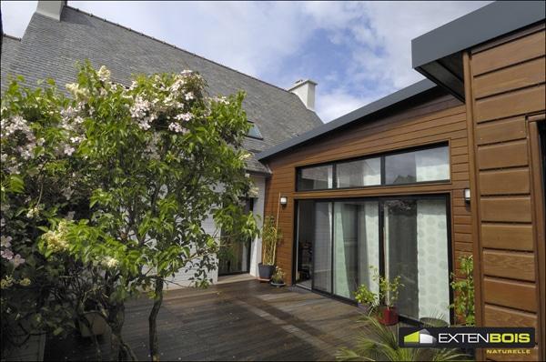 Agrandissement d 39 une maison pour piscine plouider 29 for Agrandir maison bois