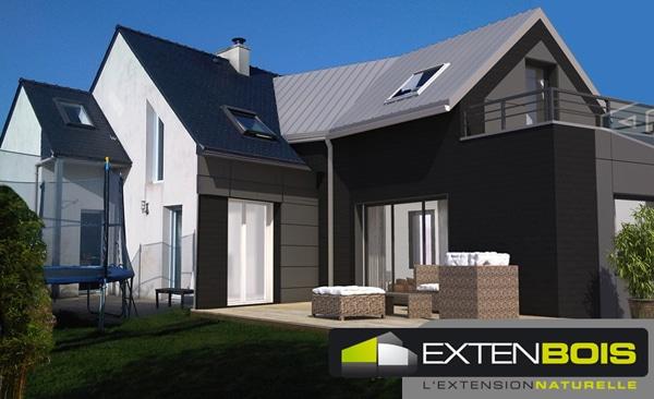 Extension Bois. Elegant Extension Bois Sur Mesure U Maison Montaigu