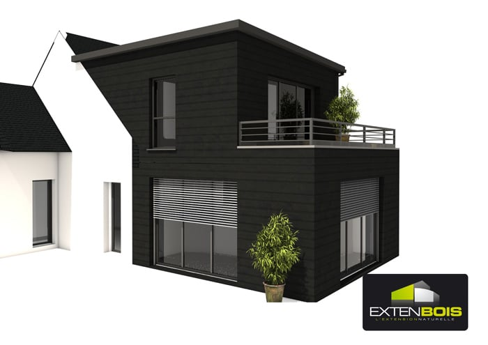 Extension bois archives extenbois l extension bois pour for Extension etage ossature bois