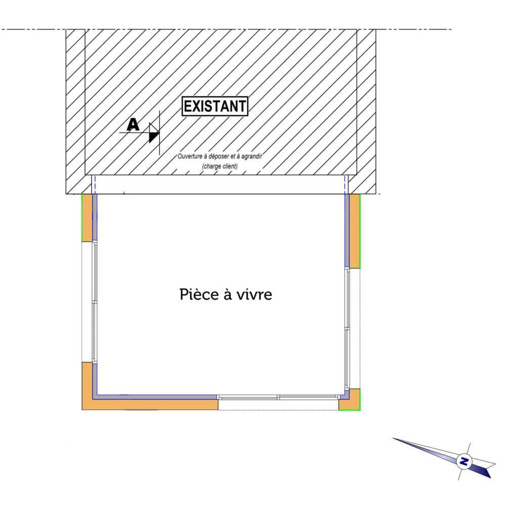 Cette extension apporte 20m² de surface supplémentaire à la maison