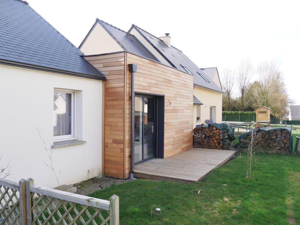 La nouvelle extension permet d'accueillir deux nouvelles chambres pour toute la famille.