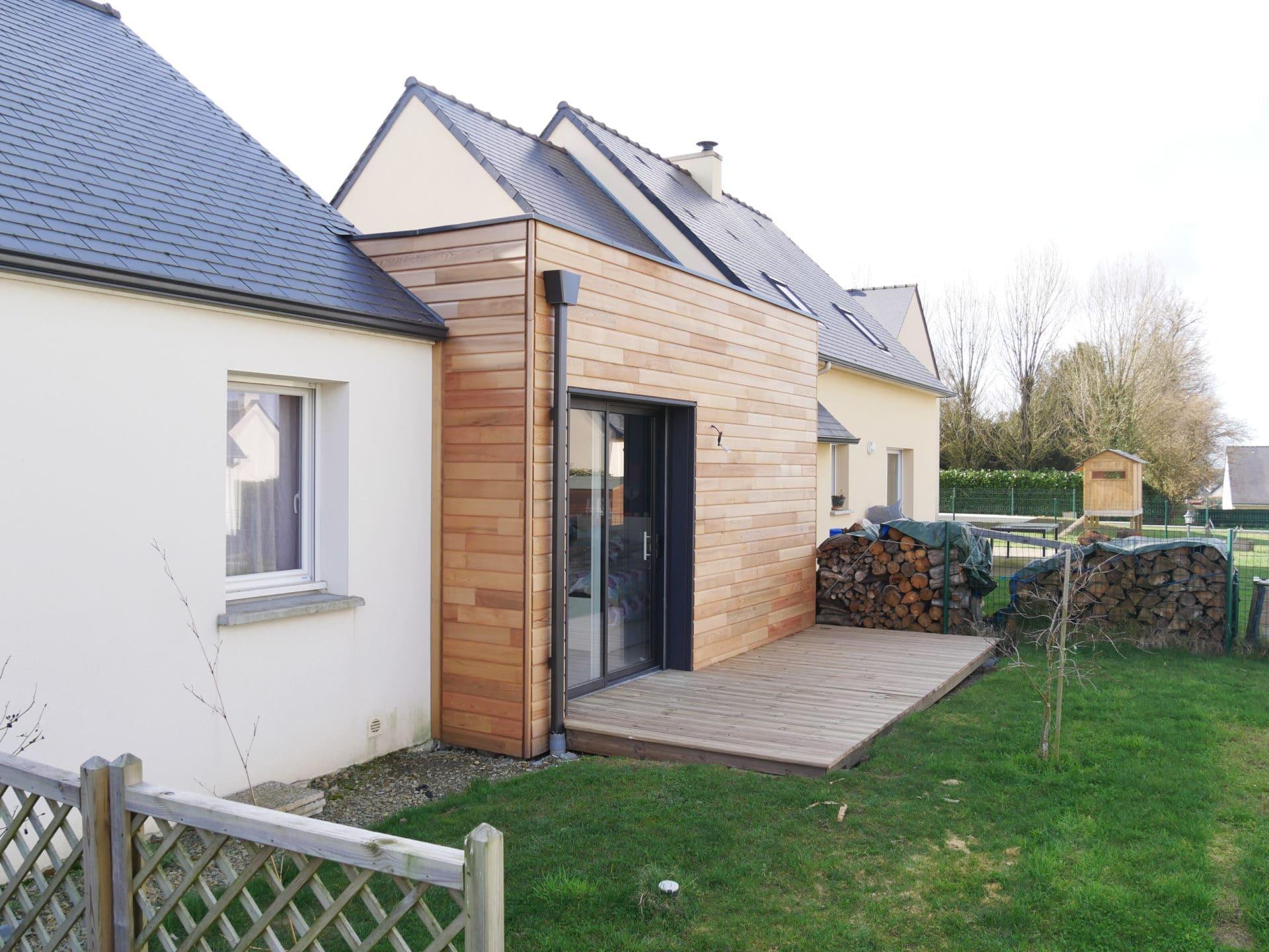 L 39 extension bois de gwena l et anna g en ille et vilaine for Extension maison 35