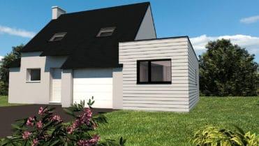 Le choix d'un bardage clair permet à l'extension de se marier parfaitement avec l'architecture de la construction et d'être un prolongement logique de la maison