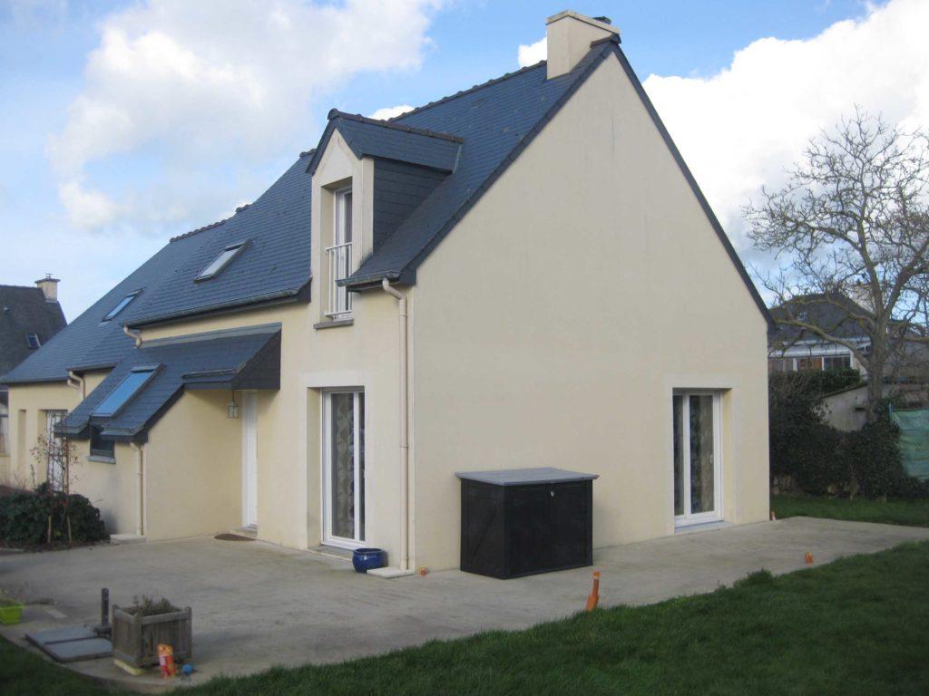 Pignon de la maison qui va accueillir l'extension