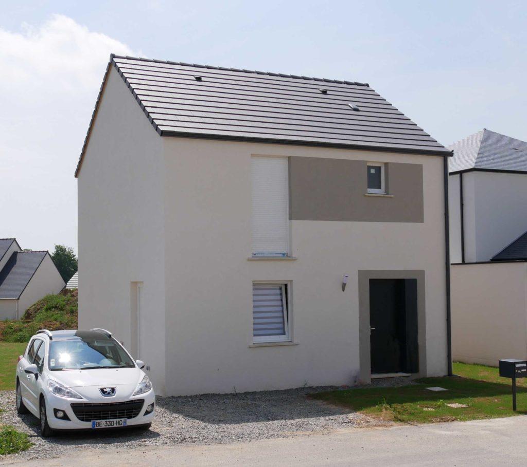 Maison à Lecousse avant d'accueillir l'extension en bois