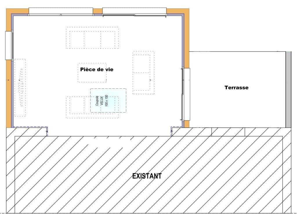 L'extension bois accueille une grande pièce à vivre conviviale