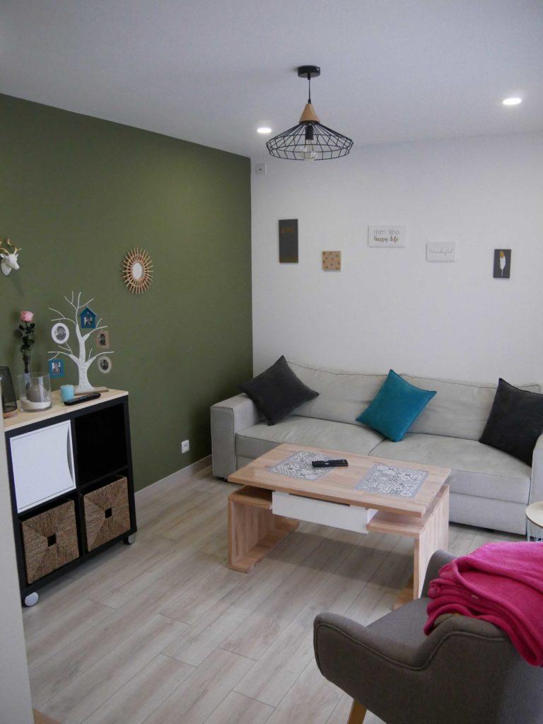 Salon de la nouvelle extension bois