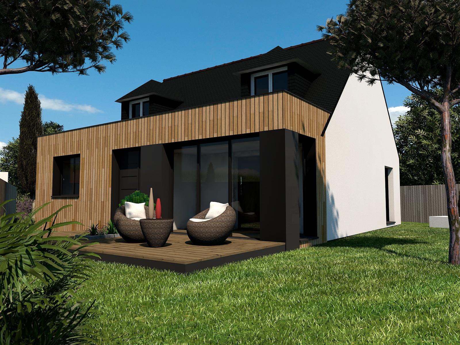Extension en bois en Ille et Vilaine