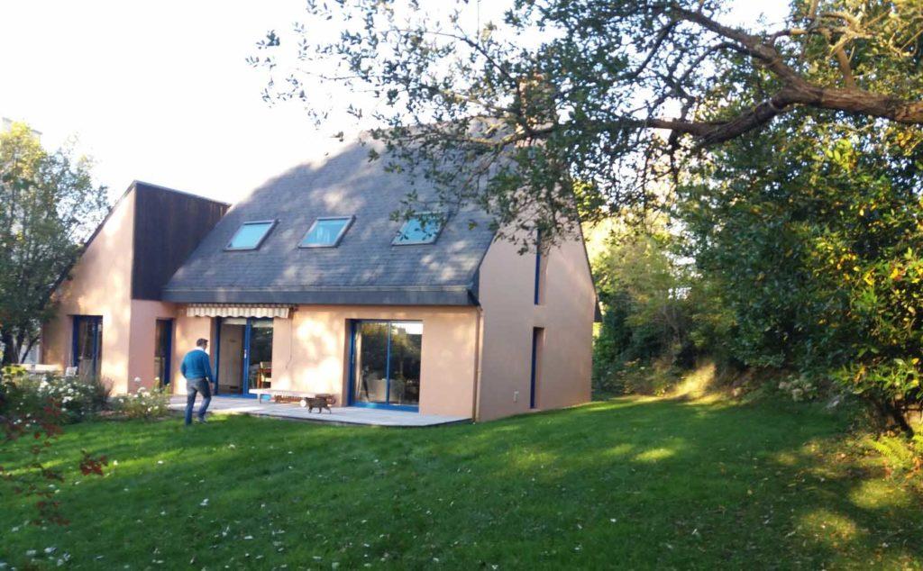 Maison Plougastel Daoulas avant la pose de l'extension
