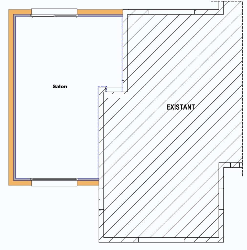 Plan de l'extension à Penevan