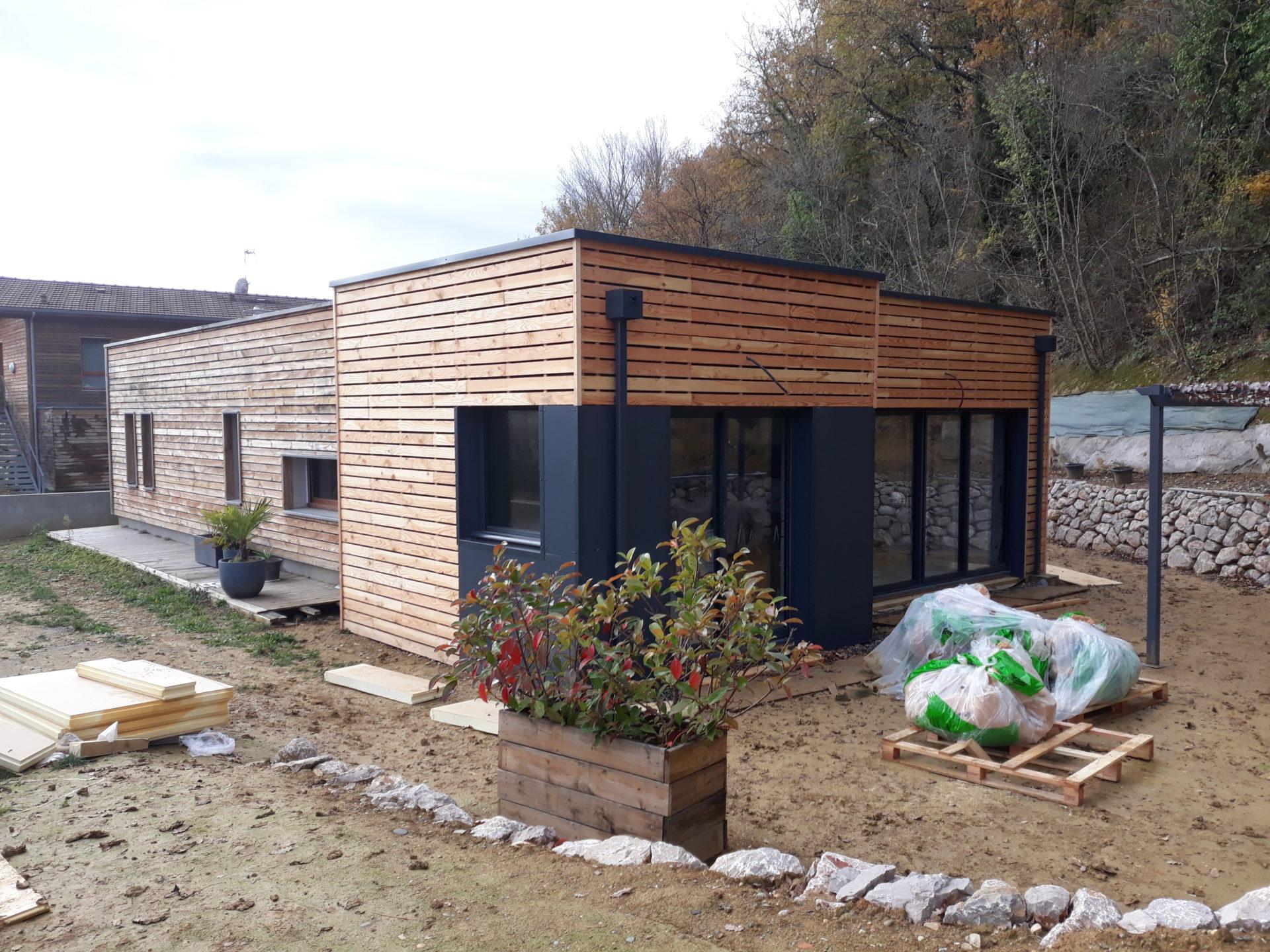 Agrandissement d une maison bois à l isle jourdain avec