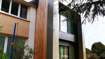 Extension bois avec arche à Rennes