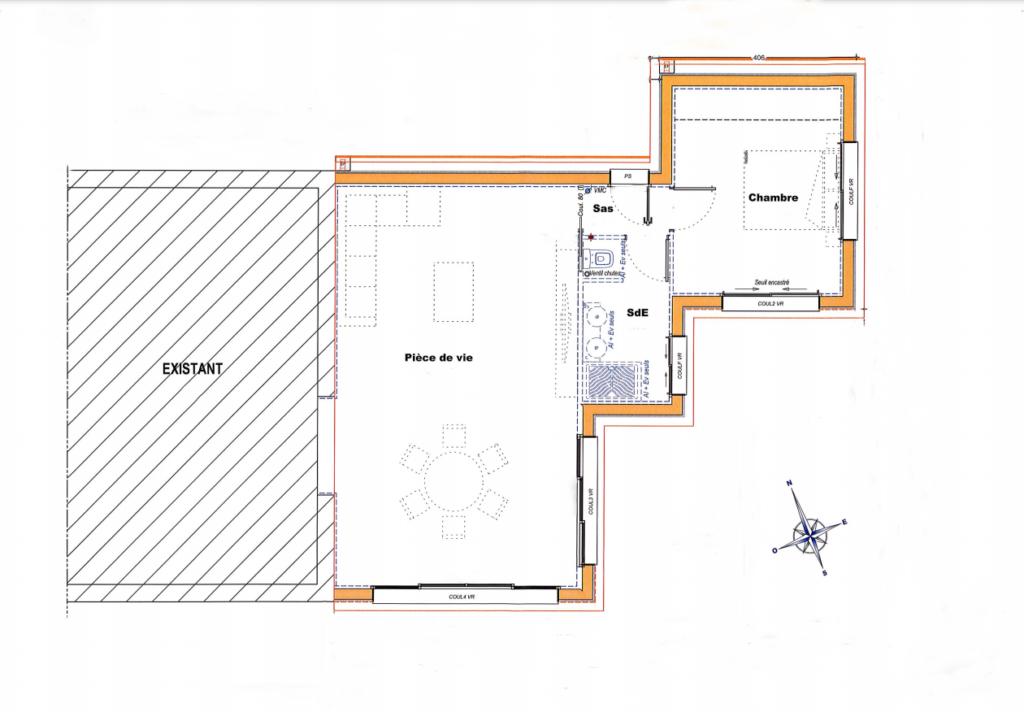 plan extension maison traditionnelle extenbois