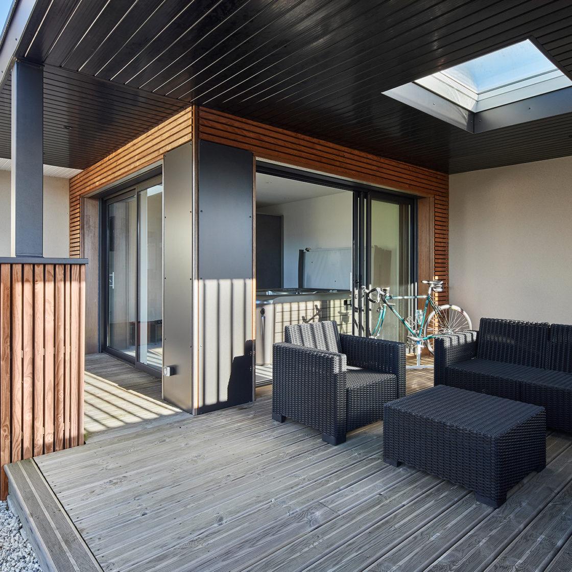 Terrasse extenbois spa